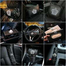 Crown Series Interior Accessories Women Leather Car Steering Wheel Cover Part