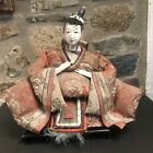antique meiji period (1868-1912) hina Japanese Emperor doll as found