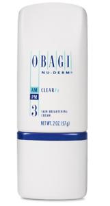 Obagi Nu Derm Clear Fx Skin Brightening Cream 2 oz
