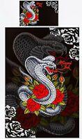 Miami Ink Duvet | Doona Quilt Cover Set | US Twin | Cobra Tattoo | Single