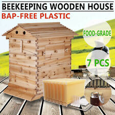 2-Box Beekeeping Wooden House+7PCS Hive Flow Auto Honey Beehive Frames H Quality
