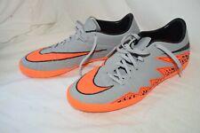 Hypervenom Phelon II Nike Men's Indoor Soccer Shoes Wolf Grey Total Orange US 9