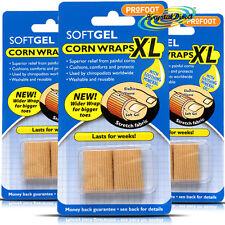 3x Profoot GEL CORN Wraps XL CUSCINI comodità Toe protezione sollievo da CALLI