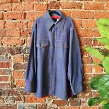 Roebucks Denim Shirt Jacket Chore Barn Coat Vintage 70s Butterfly Trucker Large