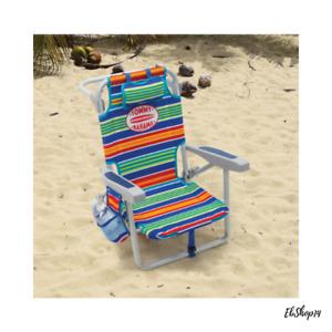 Portable Kids Tommy Bahama Backpack Beach Chair Beach Hammock Chair, 5 Positions
