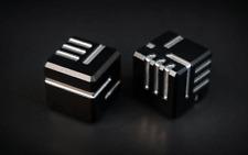 More details for original ako dice - set of 2: anodised aluminium dice sets