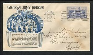 American Army Heroes Military Academy First Day Issue West Point 1937 Stamp #789