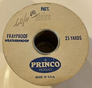 Vintage 12 Yd Moire Grosgrain Ribbon 2 3/4 Blue Green Princo Moskatels Frayproof