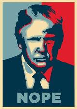 Donald Trump Poster Silk Nope President Wall Decor D-316