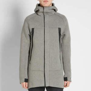 Nike Tech Fleece Parka - XS - 805142-091 Jacket Heavy Carbon Heather Grey Black