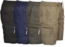 Unbranded Cotton Blend Cargo, Combat Shorts for Men