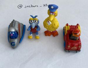 Vintage Sesame Street Toy Lot - Big Bird, Ernie, Grover car , Diecast PVC (4)