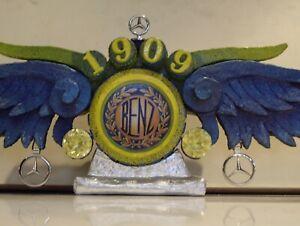 MERCEDES BENZ 1909 LOGO... DESKTOP NIGHT LIGHT WITH WINGS... HANDMADE