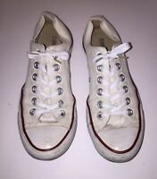 Converse Chuck Taylor All Star White Women's Size 7  Lo Sneakers Ox ~Fire~