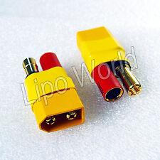 XT60 Stecker zu 5.5mm Goldkontake Buchse Hochvoltstecker Adapter Lade Kabel Akku