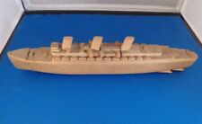 Vintage Folk Art Hand Made Ocean Liner Ship 12""