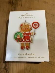 Hallmark Keepsake Ornament 2010 Granddaughter Gingerbread Sucker Donut