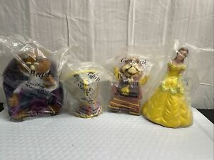 Pizza Hut Disney Beauty and the Beast Toy Set 1992 SEALED Belle Chip Cogsworth