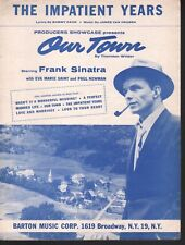 Impatient Years 1955 Frank Sinatra Eva Marie Saint Paul Newman Our Town