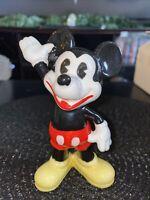 Vintage 70's Walt Disney Production Mickey Mouse Ceramic Figurine JAPAN. RARE!!!
