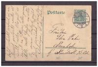 Deutsches Reich, Ganzsache P 90 Nordhausen nach Neustadt a. d. Orla 13.07.1911