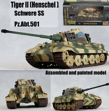 Easy model WWII German Tiger II Tank Henschel Schwere PzAbt 501 1/72 non diecast