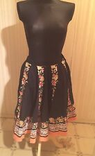 Vintage Urban Outfitters Boho Embellished Midi Swing Skirt
