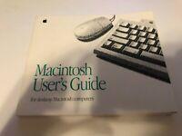 Vintage Apple Macintosh User's Guide For Desktop Macintosh Computers