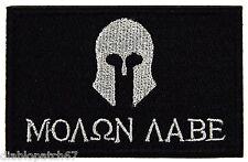 "MOLON LABE Military Morale Biker Outlaw Patch Size: 3x2"" -Iron on"