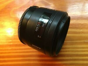 Sony SAL 50mm f/1.4 AF Lens Excellent Condition