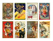 Vintage Halloween Stickers Reproduced Vintage Postcards 16 Total
