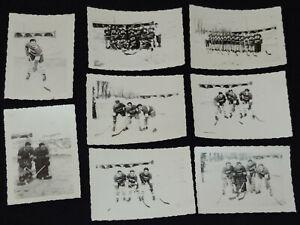 1947 - PAUL LARIVEE - AMATEUR HOCKEY PHOTOS (8) - ORIGINAL