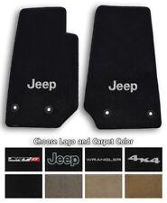 Jeep Wrangler Ultimats Carpet 2pc Front Floor Mat Set - Choose Color & Logo
