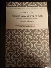 Church Choral Sheet Music: Feed Us Now, O Son of God (Allen) SATB 10 Copies