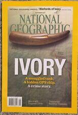 National Geographic Ivory Smuggled Tusk Crime Story September 2015 FREE SHIPPING