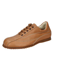 Chaussures Hommes HOGAN 39,5 Ue Baskets Brun Cuir BN129-39,5