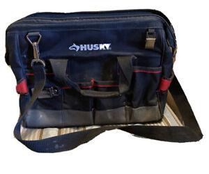 Husky Small Black Tool Bag With Strap