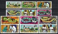 Animaux Serpents Guinée (183) série complète 12 timbres oblitérés