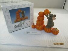 Fitz & Floyd Charming Tails Stack O'Lanterns 85/416 Mouse Pumpkins Halloween