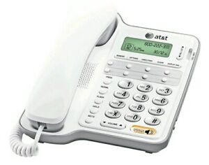 AT&T Corded Speakerphone with Caller ID/Call Waiting 2909 White speed dial