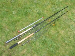 2x Garbolino Rocket 9 and 10ft Feeder fishing rods FISHING SET UP