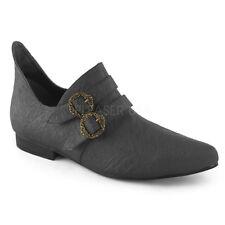 Black King Louis XVI French Nobility Versailles Royal Costume Mens Shoes Slip On
