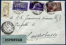 1949 - Raccomandata Espresso - Affrancatura multipla - non comune
