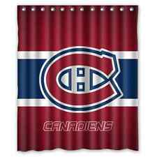 "Personalized Montreal Canadiens Hockey Waterproof  60"" x 72"" Shower Curtain Bath"