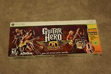 Guitar Hero Aerosmith + Wireless Guitar Controller Xbox 360 NEW FACTORY SEALED