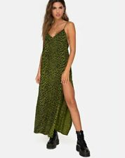 MOTEL ROCKS Hime Maxi Dress in Cheetah Khaki S Small (mr77)