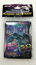 KONAMI Yugioh DOUBLE DRAGON 50ct Card Sleeves Deck Protectors BLUE+AZURE EYES