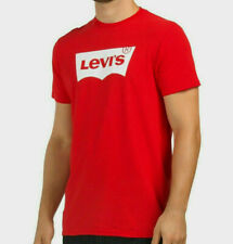 Levis Men's Crew Neck Logo T-Shirt Short Sleeve Tee Size: (S) SMALL Red