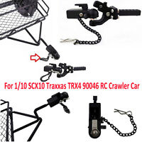 Metal Trailer Hook Hitch Receiver Buckle for 1/10 SCX10 Traxxas TRX4 90046 90047