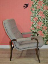 vintage 60s Lounge Sessel feiner Lehnstuhl Easy Chair modern braun/beige 1 von 3